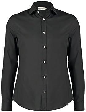 Pier One Camicia da uomo Slim Fit in bianco, blu navy o nero - Camicia formale a manica lunga, no stiro - Camicie...