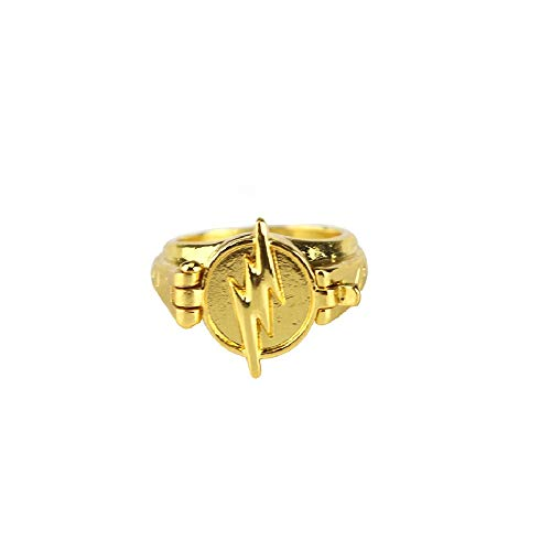 HDCooL Zinc Alloy Golden Ring Cosplay Reverse Ring Fancy Dress Costume Accessories Finger Jewelry Birthday Gift for Couples Family Best Friends 12#