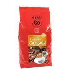 Gepa Bio Espresso Cargado ( 4 x 1000 g ) ganze Bohne. Fair Trade Kaffee