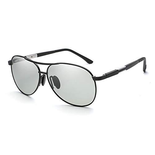 Easy Go Shopping Männer polarisierte Induktion der Sonnenlicht-Farbändernden treibenden Sonnenbrille-Gläser Sonnenbrillen und Flacher Spiegel (Color : 03Gray)
