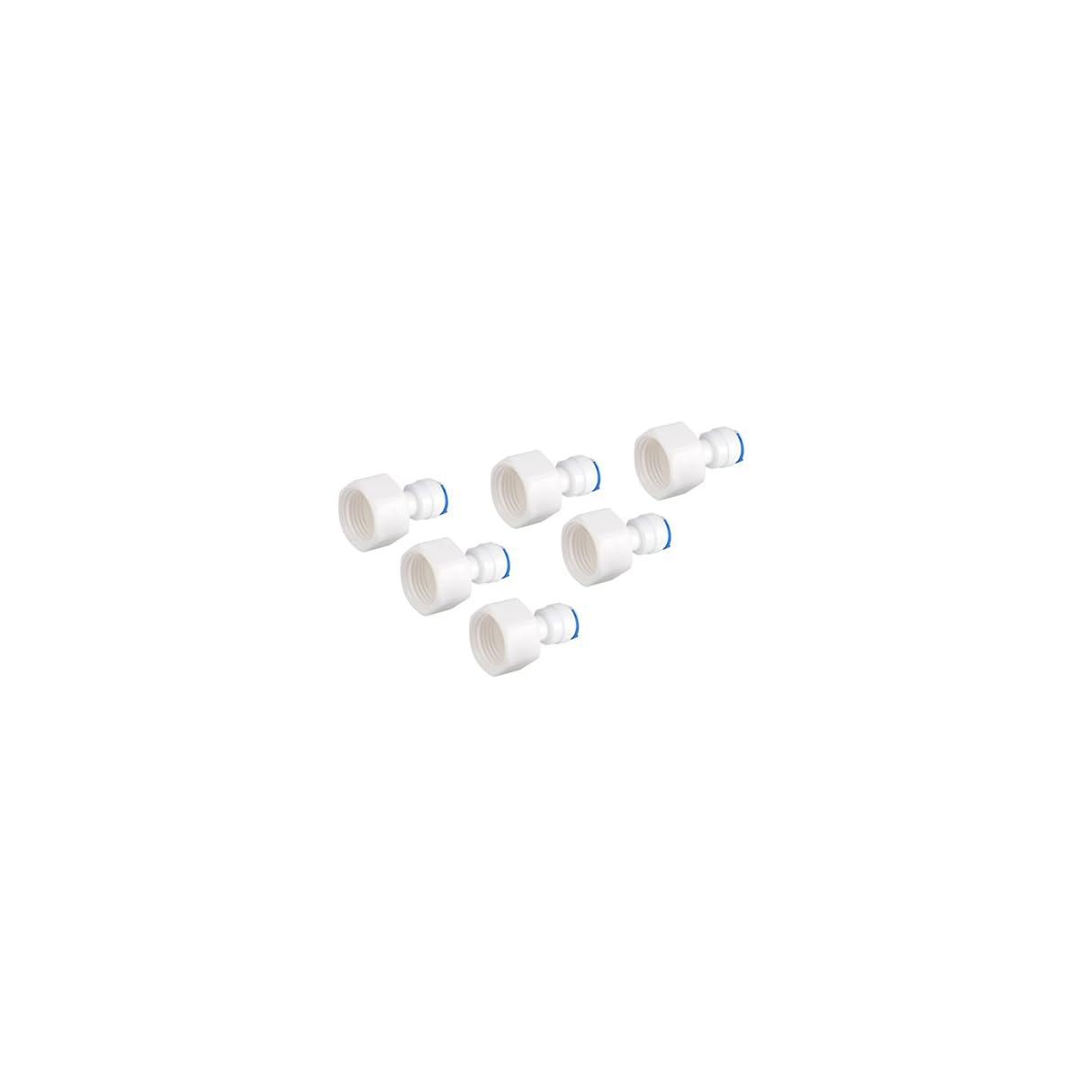 313YusaukKL. SS1200  - Conector Rápido 1/4 Tubo OD a 1/2 Empuje Hembra En Conector Rápido Para ósmosis Inversa De Filtro De Agua 6pcs