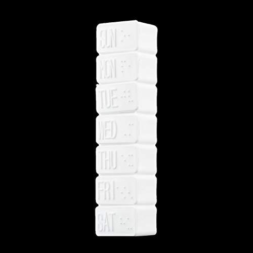 1pc One Week 7-days Small Medicine Pill Drug Box Pill Drug Mini Pillbox Container Non-removable Plastic Case Holder - Pill Box Drug