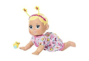 Baby Born 825884 Funny Faces – Crawling Interactive Doll, 36cm