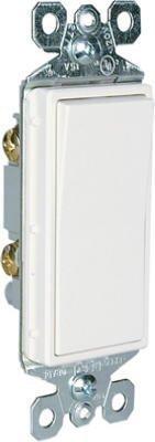 15 Amp Single Pole (Pass & Seymour TM870WCC10 Single Pole Decorator Switch 15A 120/277W White - Quantity 10 by Pass & Seymour)