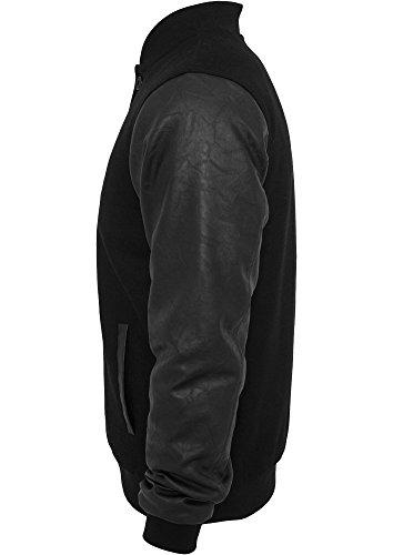 Urban Classics Wool Leather Button t Veste mi-sais Black