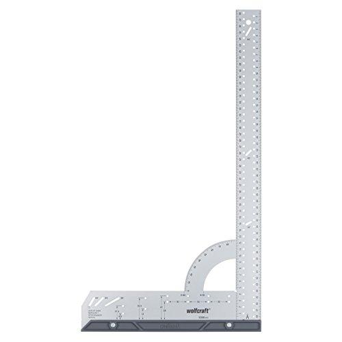 wolfcraft Universalwinkel 5206000 | Winkelmesser mit 500 mm Schenkellänge zum präzisen Anreißen & Zeichnen mit 90° Anschlagwinkel & abnehmbarer Winkelschiene
