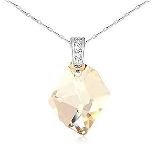 Daesar Schmuck Damenkette Vergoldet Prophecy Stein Halsketten Zirkonia Anhänger Halskette für Frauen