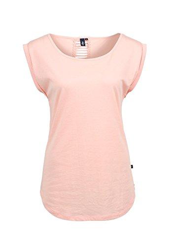 s.Oliver Denim mit Frontprint 41.505.32.2423 - T-shirt - uni - Col ras du cou - Manches courtes - Femme Orange (Blue 2009)