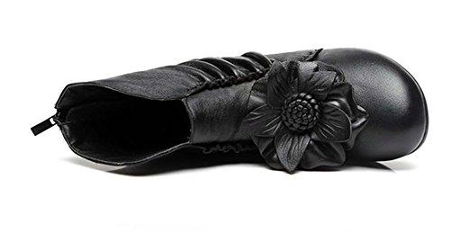 Bottes En Cuir Rétro Personnalisé Bottes En Cuir Personnalisé Folk Custom Boot Shorts Noir