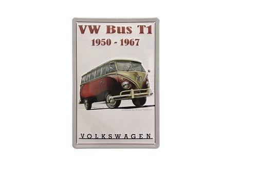 VW Bulli Blechschild mit hochwertigem Prägedruck - KUKBB9538