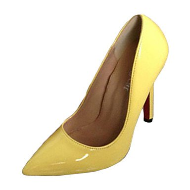 Moda Donna Sandali Sexy donna tacchi tacchi estate pu Casual Stiletto Heel altri blu / giallo / Argento Altri Yellow