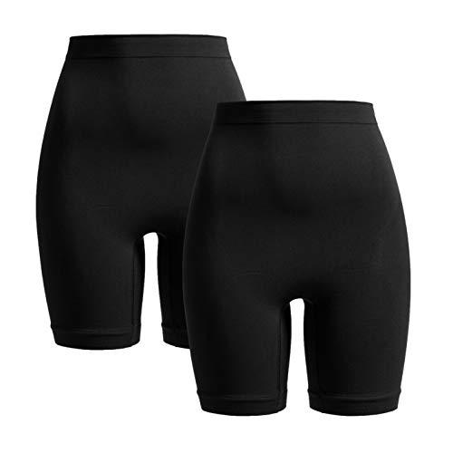 Herzmutter Shaping-Unterwäsche-Shapewear Damen | Bauchbinde-Slip-Miederhose zur Rückbildung | stützend nach Geburt-Schwangerschaft-OP | 1er & 2er-Set | 5620 (S/M, Schwarz, 2X)