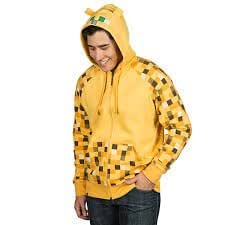 Minecraft Ocelot premium zip-Up coton ouaté de la jeunesse (petite) Minecraft Ocelot premium zip-Up youth hoodie (small)