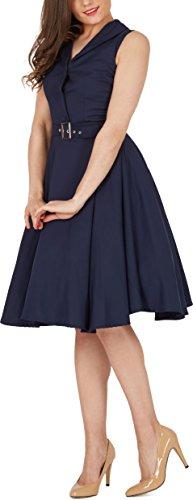 Black Butterfly 'Luna' Retro Clarity Kleid im 50er-Jahre-Stil (Nachtblau, EUR 44 – XL) - 5