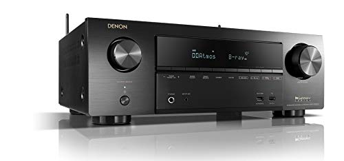 Denon AVRX1500H 7.2-Kanal AV-Receiver (HEOS Integration, Amazon Alexa Steuerung, Dolby Vision Kompatibilität, Dolby Atmos, dtsX, WLAN, Bluetooth, Amazon Music, Spotify Connect) Schwarz