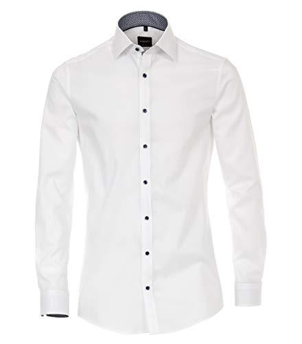 Venti Herren Businesshemd Hemd Body Fit, (Weiß 000), 42