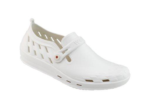 Nexo - Chaussures professionnelles WOCK - Antidérapante ; Talon fermé ; Stérilisable ; Amortissement des chocs ; Aérée Blanc/Blanc