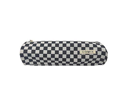 Astuccio scuola tombolino mini comix all over scacchi bianco nero 22x5 cm