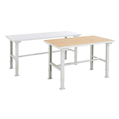 BiGDUG Werkbank - höhenverstellbar, Traglast 450 kg - BiGDUG Werkbank, MDF-Platte - HxBxT 745-1000 x 1493 x 790 mm -