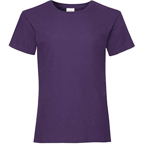 Fruit of the loom valueweight, t-shirt da ragazza violett 9-11 anni