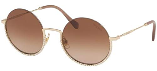 Miu Miu Sonnenbrillen SMU 69U Pale Gold/Brown Shaded Damenbrillen