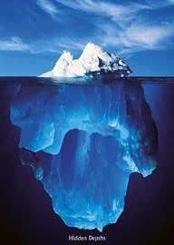 1art1 1531 Poster Motivation Iceberg Hidden Depths 91 x 61 cm
