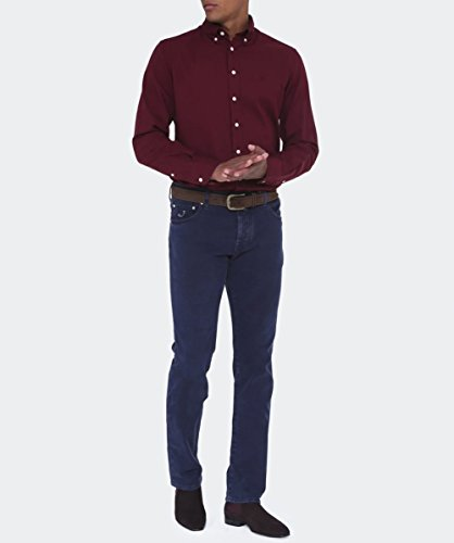 Hackett Slim Fit Oxford-Hemd Burgund Burgund