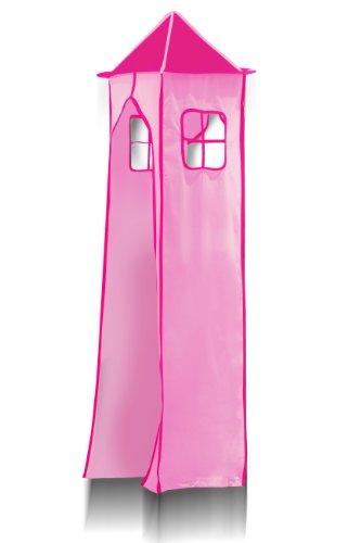 Turm für Hochbett Spielbett Turmstoff inkl. Gestell - Pink für Hochbett - TGS-66