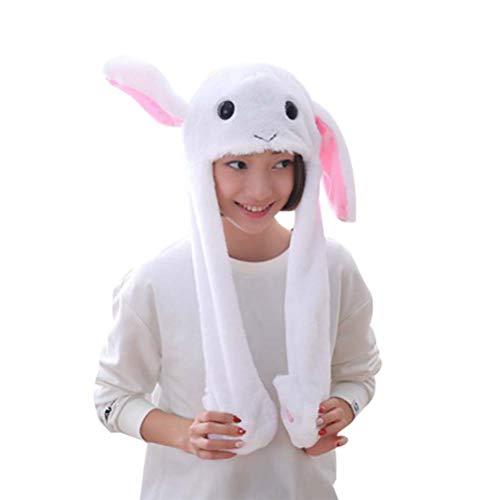 Amosfun Hase Hut Kaninchen Ohr Ostern Party Kostüm Cosplay Ostern Geschenk Spielzeug (weiß)