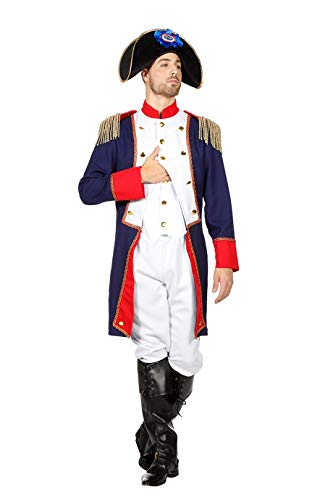 TH-MP Napoleon Kostüm 3-teilig Feldherr Uniform Herrenkostüm französischer General (50) (Napoleon Bonaparte Kostüm)
