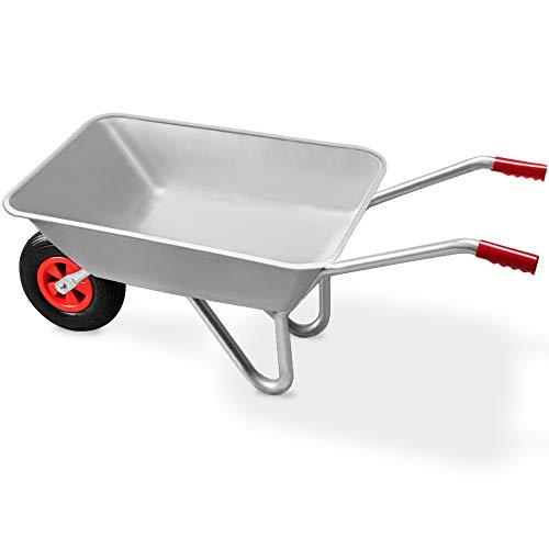 Deuba Monzana® Schubkarre 80L Bauschubkarre bis 200kg Gartenkarre | 200kg Belastbarkeit | verzinkter Stahlrohrrahmen - 4