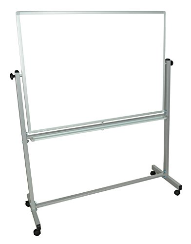 Stand Up Desk Store Beidseitig mobiles Magnet-Whiteboard (120cm x 90cm)