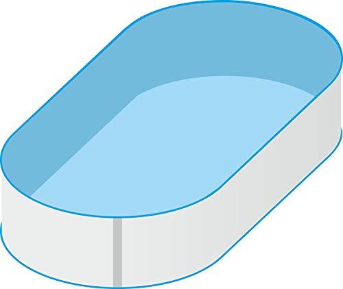 Trendpool Pool Schwimmbecken Oval Ovalpool 8,00 x 4,00 x 1,50m IH 0,8mm