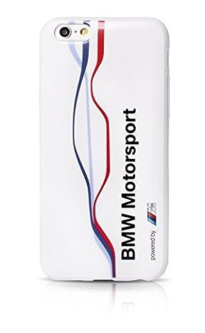 BMW Motorsport Coque en TPU pour iPhone 6 Plus/6S Plus Motif Twisted Tricolor Stripe Blanc