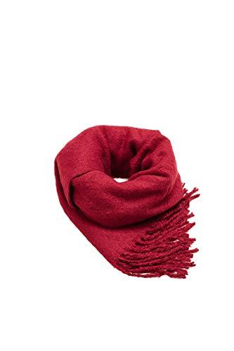 ESPRIT Accessoires Damen Schal 108EA1Q006, Rot (Plum Red 605), One Size (Herstellergröße: 1SIZE)