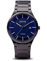 4360c374ba98 BERING Reloj Analógico para Hombre de Cuarzo con Correa en Titanio 15239-727