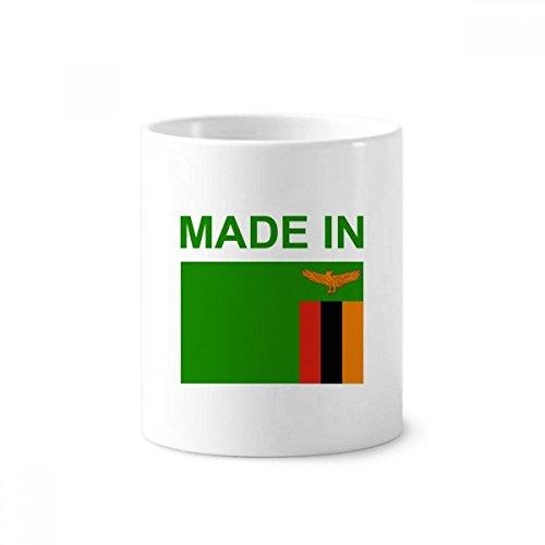 DIYthinker Hegestellt in Sambia Land Liebe Zahnbürste Stifthalter Tasse Weiß Keramik Tasse 12 Unzen 4 Zoll hoch x 3 Zoll Durchmesser Mehrfarbig