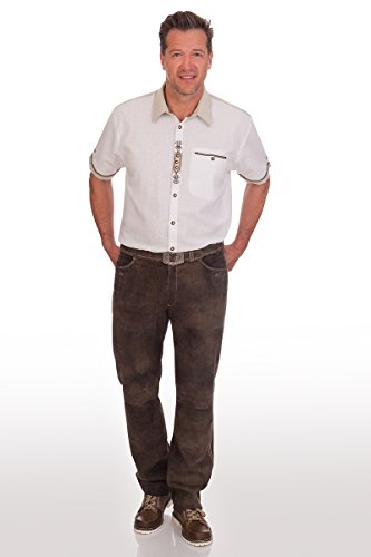 Lange Trachten Lederhose - ALDO - braun antik, Größe 52