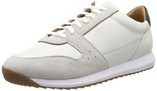 BOSS Sonic_Runn_ltsd, Herren Sneaker, Weiß (White 100), 43 EU (9 UK)