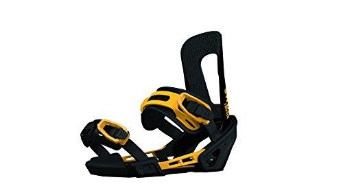 Switchback Forever Snowboard-Bindungen, Schwarz/Gelb, S/M -