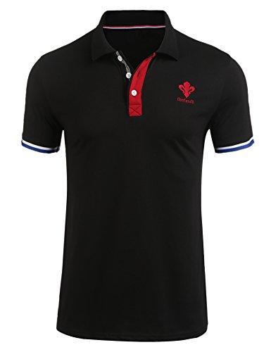 Coofandy Herren Poloshirt Kurzarm Baumwolle M-XXL Schlichtes klassisches Polohemd Tops Shirts