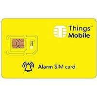 SIM Card per ALLARME e ANTIFURTO - Things Mobile - copertura globale, rete multi-operatore GSM/2G/3G/4G, senza costi fissi, senza scadenza, tariffe competitive. 15€ di credito incluso + 1€ gratis