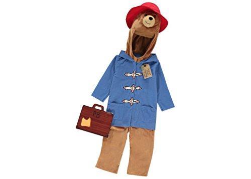 Charaktere Kostüm Comic Buch - Paddington Bär Kostüm, offizielles Lizenzprodukt, für Kinder, Alter 5-6Jahre, mit Dufflecoat, Charakter-Kapuze und Filz-KofferHergestellt für die George-Kollektion.