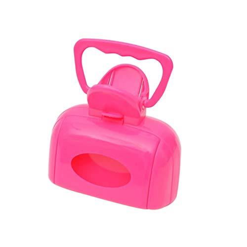 NAttnJf Haustier Kotschaufel Tragbare Plastikhunde Katzen Heben KOT-Toiletten-Toiletten-Reinigungs-Klammer-Haustier-Werkzeug auf Rose Rot