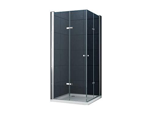 Eckeinstieg Duschkabine Dusche VIGO 80 x 80 x 180cm / 8 mm/ohne Duschtasse -