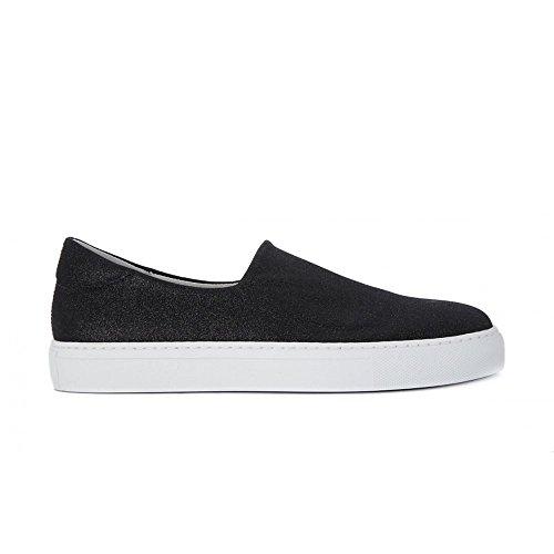 FRAU 40J0 nero scarpe donna sneakers slip-on elasticizzata glitter Nero