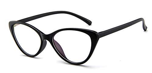 JIUPO Classic 50er Jahre Damen Brille Ohne Sehstärke Brillengestelle Rahmen Partybrille Cat Eye Katzenauge
