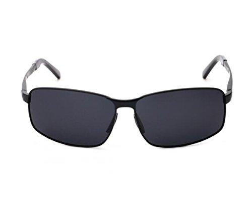SUN^GLASSES SONNENBRILLEN Neue Optische Sonnenbrillen Sonnenbrillen Persönlichkeit Rückspiegel Laufwerk Offset, Sonnenbrille Black Box Auf Der Grau/Schwarz Film