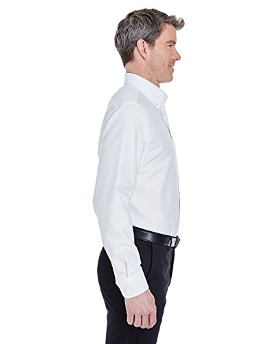 Hoch Classic Herren faltenfrei langen Ärmeln Oxford (8970T) Weiß