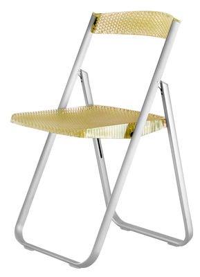 Kartell 4818J2 Chaise pliante Honeycomb (Jaune transparent)